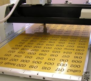 large orders/quantities of engraved signs, labels, tags and plaques manufactured fast and efficiently
